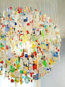 Bright Colored Chandeliers L 225 Mparas Manualidades Artesanas