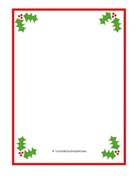 christmas border paper plain holly santa hat fairy
