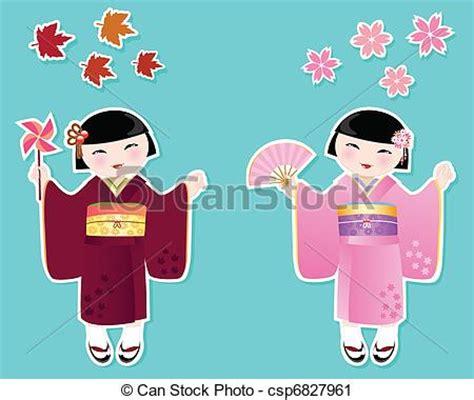 imagenes de japon caricaturas vector clip art de lindo ni 241 as japon 233 s japon 233 s ni 241 as