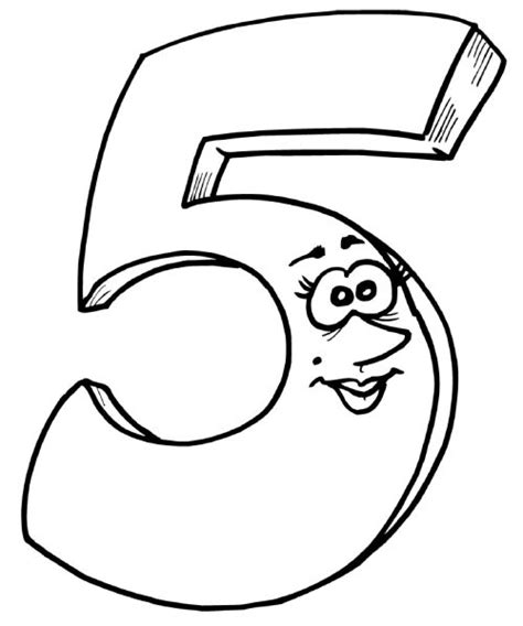 coloring pages of number 5 coloring pages for kids number quot 5 quot coloring pages for kids