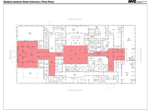 waldorf astoria new york floor plan public hearing held on interior designations for waldorf