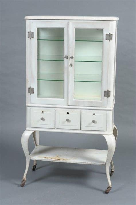 antique white metal cabinet vintage retro