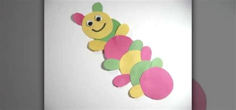 How To Make Newspaper Paper - how to make a paper caterpillar with your 171