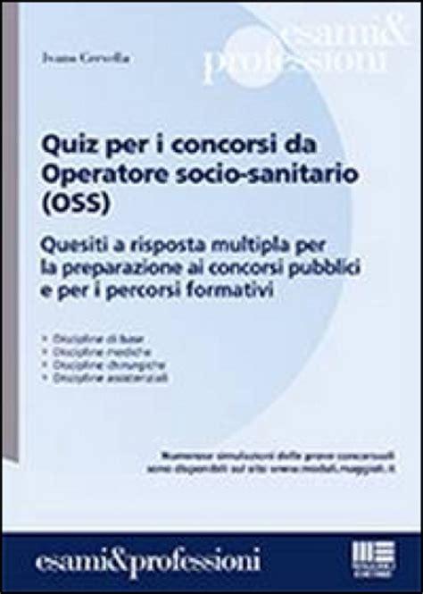 concorsi pubblici per operatore socio sanitario pdf
