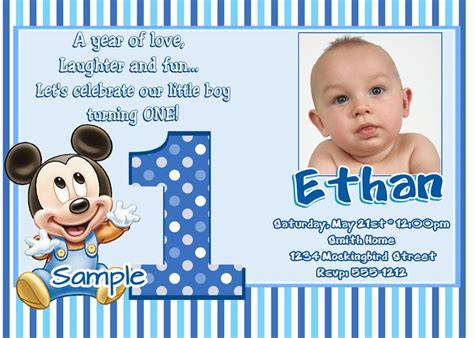 Create 1st Birthday Invitation Card With Photo Free