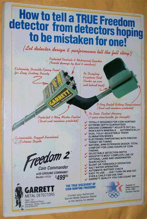 vintage garrett metal detector advertisements private