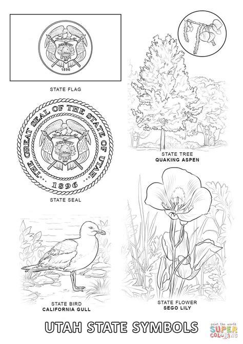 utah coloring book pages utah state symbols coloring page free printable coloring