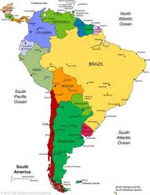 world map of and south america south america unit study resources