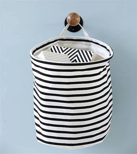 Nautical Striped Laundry Bag Storage Basket S By Little Nautical Laundry