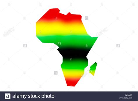 colors of africa an outline of the map of africa in pan colours on