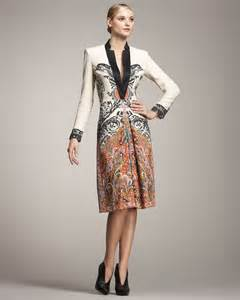 etro long sleeve coat dress in white lyst
