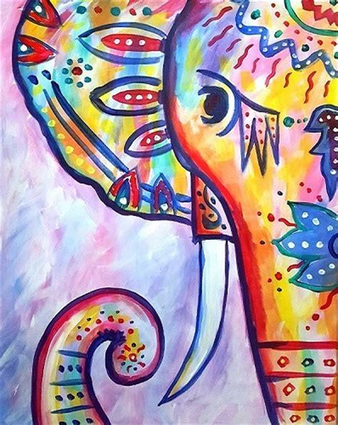 Paint Nite Rainbow The Boho Elephant