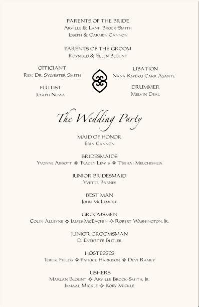 wedding reception program templates wedding program templates free program