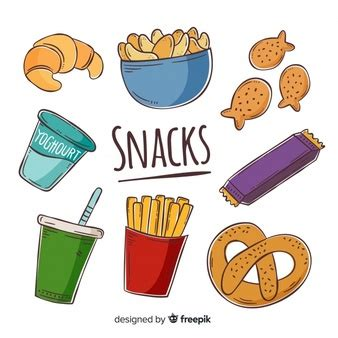 snack vectors   psd files