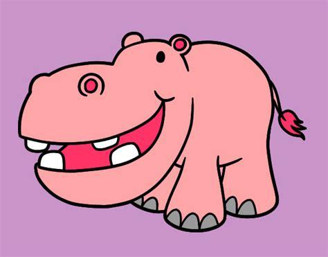 imagenes infantiles hipopotamo dibujos de hipop 243 tamos para colorear dibujos net