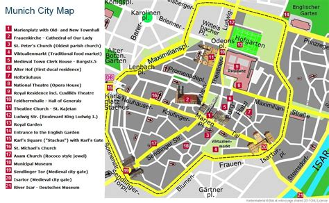 munich map munich tourist information