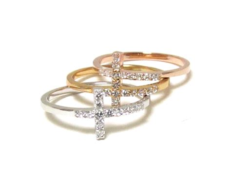 Crossed Ring gold wedding rings gold cross rings for