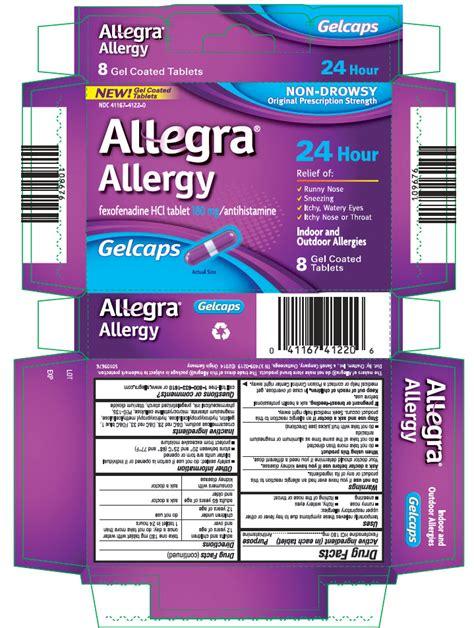 Allegra Gel By Allegra allegra allergy chattem inc fexofenadine hydrochloride