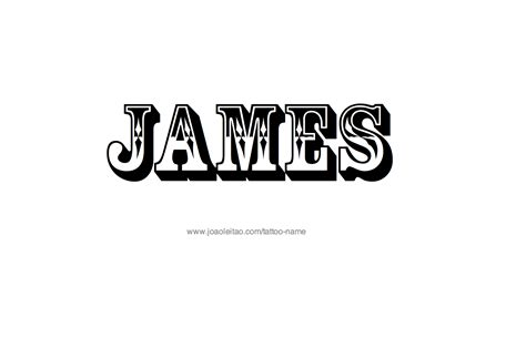 james tattoo designs name designs