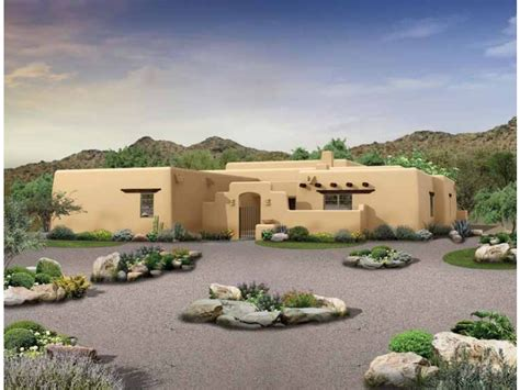 Adobe Style Home Plans by Eplans Adobe House Plan Southwestern Home 2276 Square