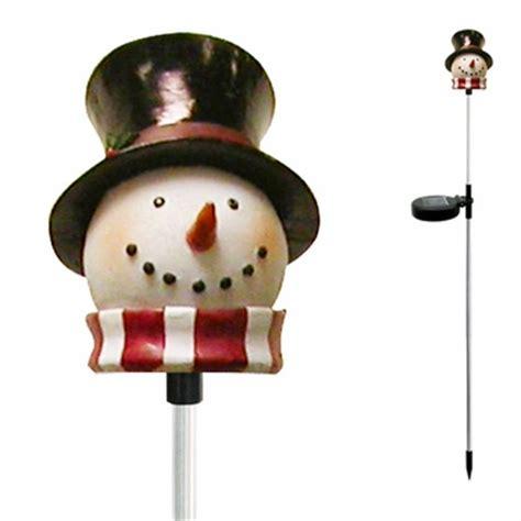 snowman solar light garden stakes solar snowman garden stake