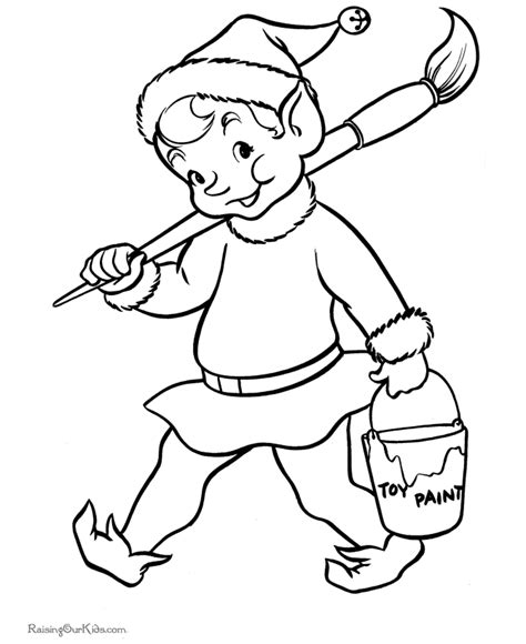 coloring page elves santa s elf christmas printable coloring pages