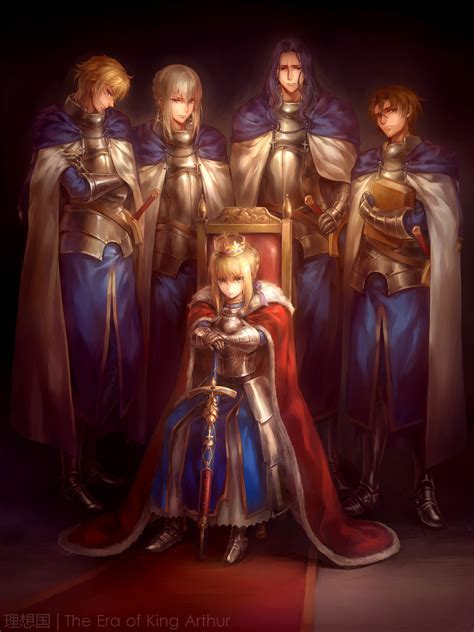 Picture of The Day: Bedivere x Gawain x Lancelot x Saber