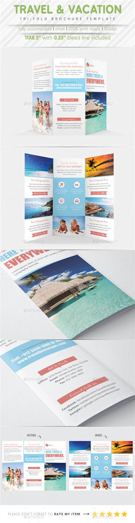 travel agency brochure template travel agency tri fold brochure by samiul75 graphicriver