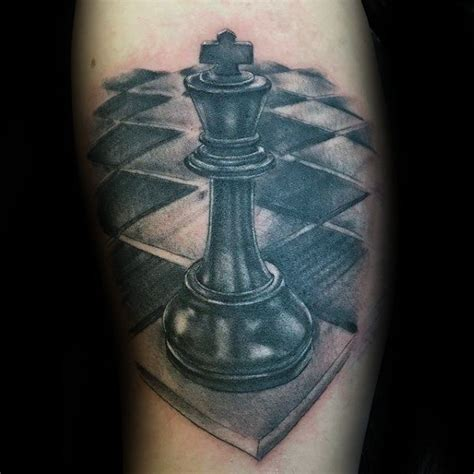 king chess piece tattoo 60 king chess designs for powerful ink