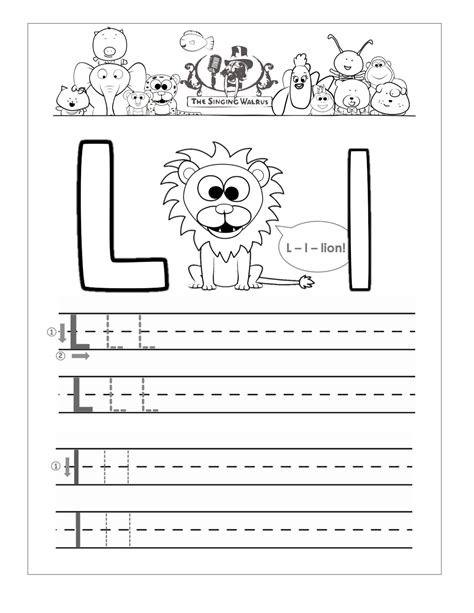 Letter L Worksheets by Letter L Tracing Boxfirepress