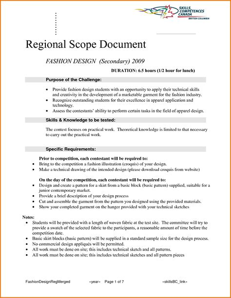 technical scope document template technical scope document template 8 scope of work