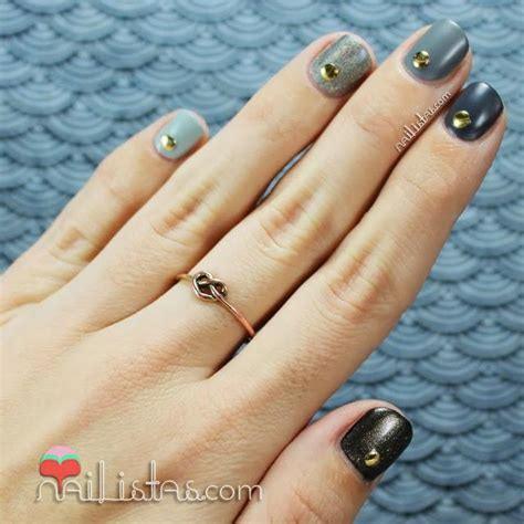 imagenes de uñas acrilicas cortas u 241 as cortas decoradas con tachuelas y degradado paperblog