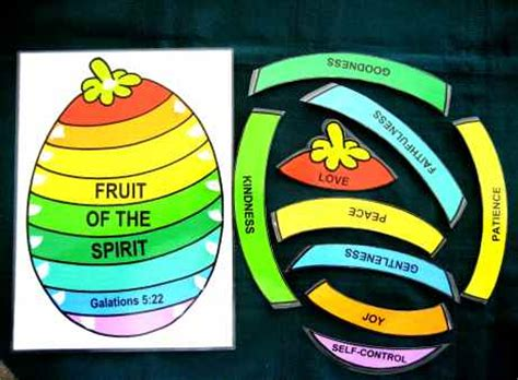 fruit of the spirit crafts for one page bible stories