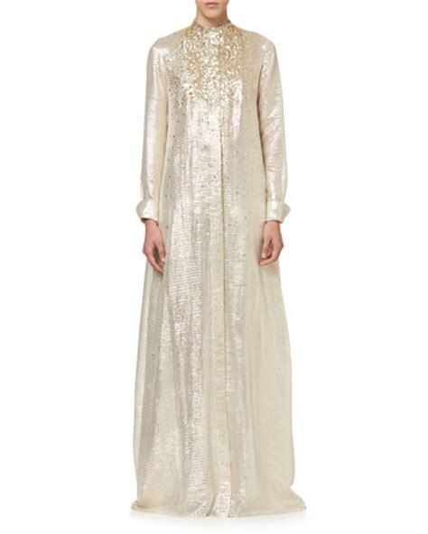 Nm Kaftan Gold carolina herrera clothing dresses gowns at neiman