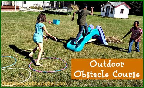 Easy Backyard Obstacle Course by Outdoor Fall Obstacle Course