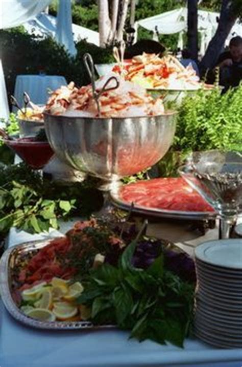 cool seafood station wedding reception displays