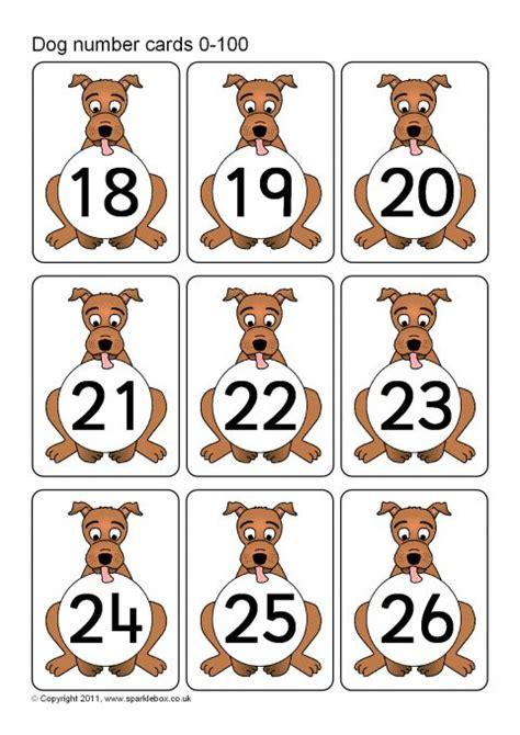 sparklebox printable number cards dog number cards 0 100 sb6457 sparklebox