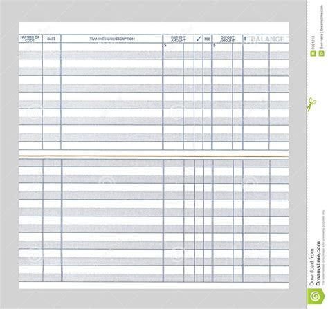 blank checkbook register royalty free stock photos image