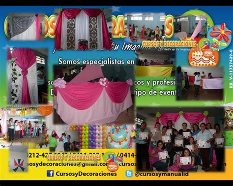cursos de decoracion de eventos curso decoracion con telas para eventos cursos