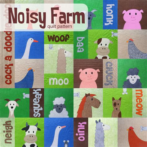 Farm Quilt Patterns by The Noisy Farm Quilt Pattern Is In The Shop Shiny Happy