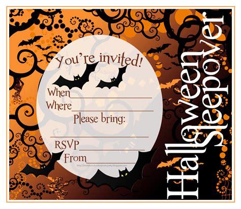 easy printable halloween invitations invitations for sleepover party