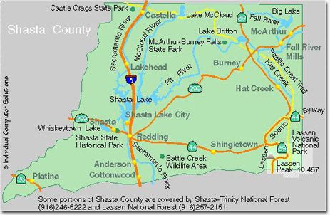 Shasta County Property Tax Records Shasta County Attractions Shasta County Map