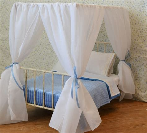 Sheer Bed Canopy by American Canopy White Sheer For 18 Canopy Doll Bed