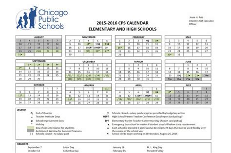 Chicago Summer Calendar When Is For Chicago Schools