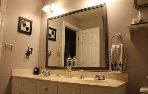 decorate bathroom mirror design framed bathroom mirrors doherty house hang a