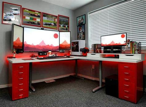 computer desk gaming best 25 gaming setup ideas on pc gaming setup