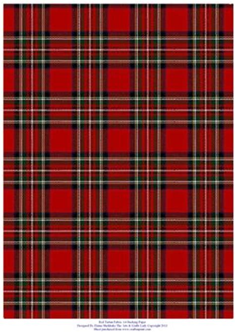 tartan print red tartan effect a4 backing paper cup259041 604