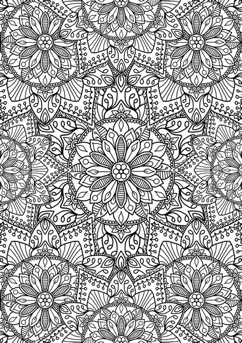 coloring pages for adults a4 repeating pattern