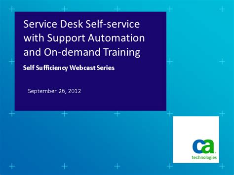 Help Desk Support Courses by Service Desk Self Service With Support Automation And On