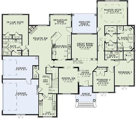 new home plans with inlaw suite in law suite home plans pinterest